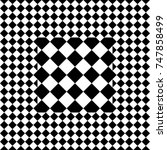 seamless tile with black white... | Shutterstock .eps vector #747858499