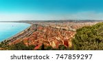 view of the city of nice and... | Shutterstock . vector #747859297