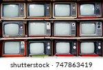 retro television | Shutterstock . vector #747863419