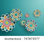 abstract background with 3d... | Shutterstock . vector #747873577