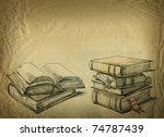 old books | Shutterstock . vector #74787439