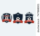 soccer football club logo badge ... | Shutterstock .eps vector #747888001