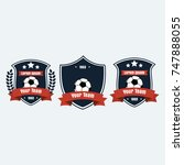 soccer football club logo badge ... | Shutterstock .eps vector #747888055
