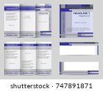 template set of tri fold... | Shutterstock .eps vector #747891871