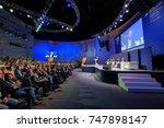skolokovo  russia   october 16  ... | Shutterstock . vector #747898147