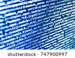 displaying program code on... | Shutterstock . vector #747900997