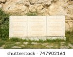 Small photo of CAPE KALIAKRA, BULGARIA - AUGUST 23, 2017: Commemorative sign to Admiral Ushakov in honor of the victory of the Russian fleet over the Ottoman-Algerian fleet of 11 August 1791.