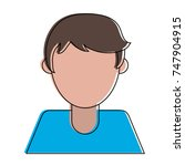 man faceless avatar | Shutterstock .eps vector #747904915