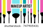 makeup artist template business ... | Shutterstock .eps vector #747905431