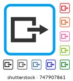 exit icon. flat gray iconic...
