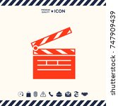 clapperboard icon   Shutterstock .eps vector #747909439