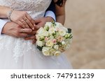 putting on wedding rings.... | Shutterstock . vector #747911239