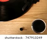 vinyl player | Shutterstock . vector #747913249