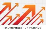 financial arrow graph | Shutterstock .eps vector #747935479