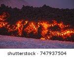 eruption of etna volcano...   Shutterstock . vector #747937504