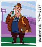 head coach   a college coach... | Shutterstock .eps vector #747943357