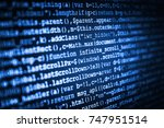 hacker breaching net security.... | Shutterstock . vector #747951514