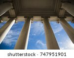 building column on a government ... | Shutterstock . vector #747951901