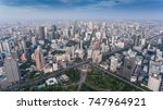 aerial drone panorama of... | Shutterstock . vector #747964921