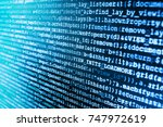 coding script text on screen....   Shutterstock . vector #747972619