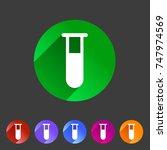 test tube glass icon flat web...   Shutterstock . vector #747974569