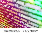 Small photo of Monitor closeup of function source code. Big data database app. Javascript functions, variables, objects. Hacker breaching net security. PHP syntax highlighted. SEO optimization.