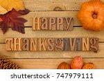thanksgiving themed background...   Shutterstock . vector #747979111
