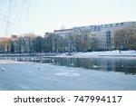 Frozen Canal In Berlin  Germany