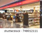 frankfurt  germany   oct 10 ... | Shutterstock . vector #748012111