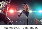 it is game time. mixed media | Shutterstock . vector #748018255