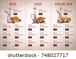 vector color menu design | Shutterstock .eps vector #748027717