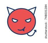 devil icon | Shutterstock .eps vector #748031284