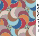abstract color seamless pattern ... | Shutterstock . vector #748032457