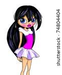 fashion cartoon girl | Shutterstock . vector #74804404