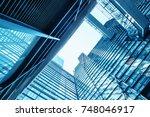 architecture details modern... | Shutterstock . vector #748046917