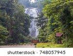 klonglan waterfall at khlong... | Shutterstock . vector #748057945