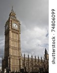 Big Ben On Westminster Palace...