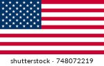 united states of america flag... | Shutterstock .eps vector #748072219