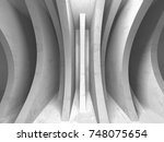 abstract geometric concrete... | Shutterstock . vector #748075654