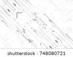 futuristic digital circuit hi... | Shutterstock . vector #748080721