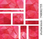 vector banners set with red... | Shutterstock .eps vector #748082755