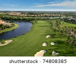 florida golf course flyover | Shutterstock . vector #74808385