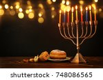 image of jewish holiday... | Shutterstock . vector #748086565