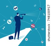 finance. illustration of a... | Shutterstock .eps vector #748100917