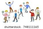 boys. illustration. | Shutterstock . vector #748111165