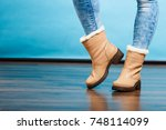 clothing fashion concept.... | Shutterstock . vector #748114099