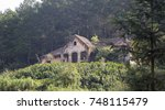 abandoned house built by french ... | Shutterstock . vector #748115479