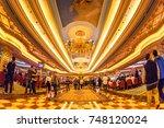macau  china   december 8  2016 ... | Shutterstock . vector #748120024