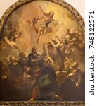 Small photo of LONDON, GREAT BRITAIN - SEPTEMBER 14, 2017: The painting of Ascension of the Lord in church St. Vedast alias Foster by R. Browne after Raphael (1720).