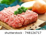 Fresh Raw Minced Meat With...